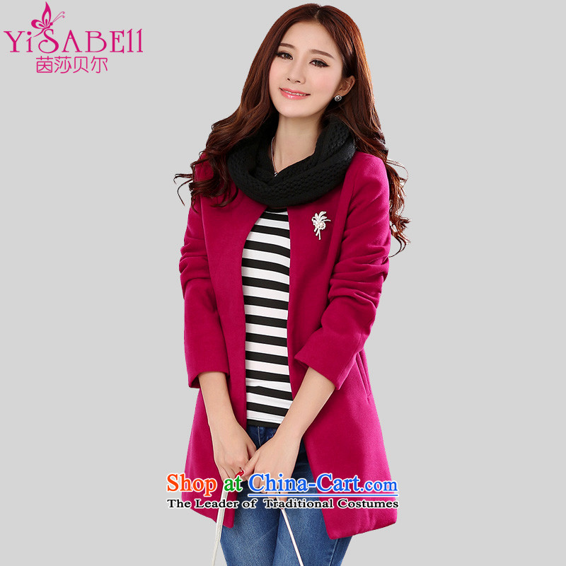 Athena Chu Isabel 2015 autumn and winter new Korean Edition to increase women's human expertise code?   Graphics gross jacket succesful thin terminal in the long coats of red 4XL( 1129 recommendations 1145-160 catties)