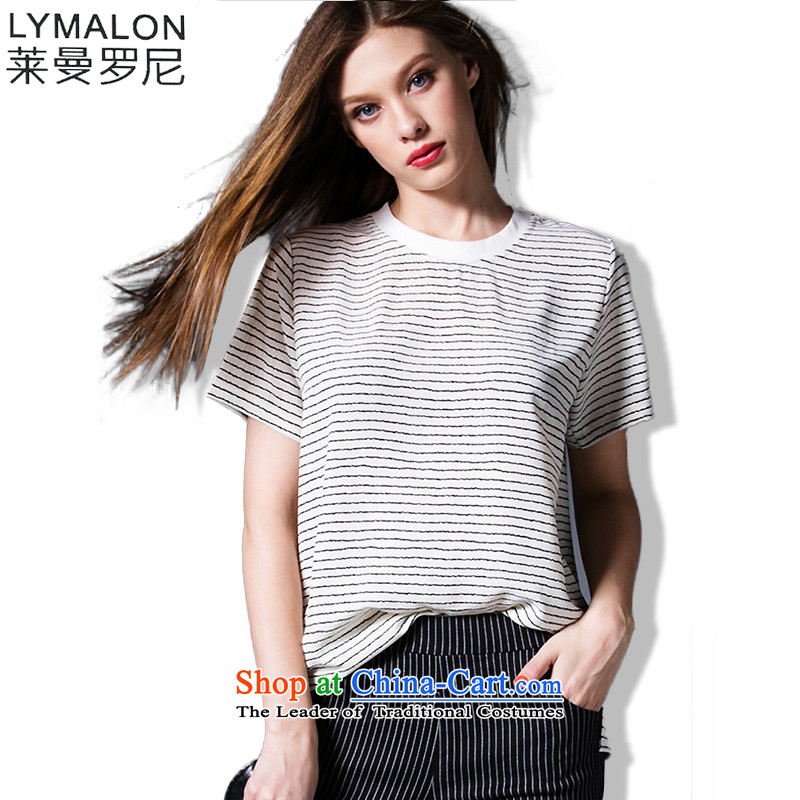 Mr Lehmann thick, Hin thin 2015 Summer thick mm to increase women's large western luxury breathable short-sleeved T-shirt 95923 color picture燲L