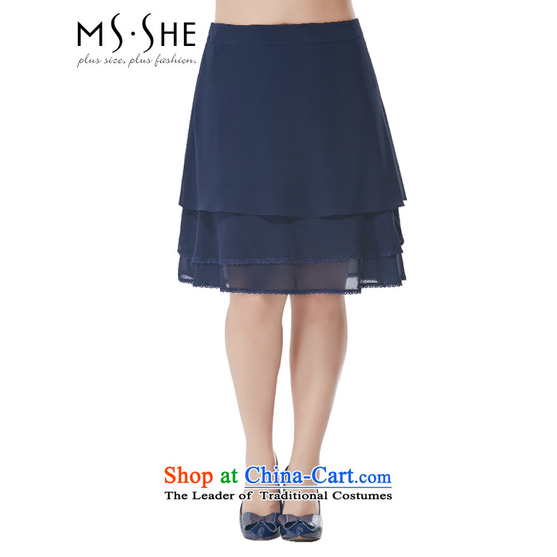 To increase the number msshe women 2015 new autumn replacing billowy flounces chiffon short skirt body skirt 4335th blue�L