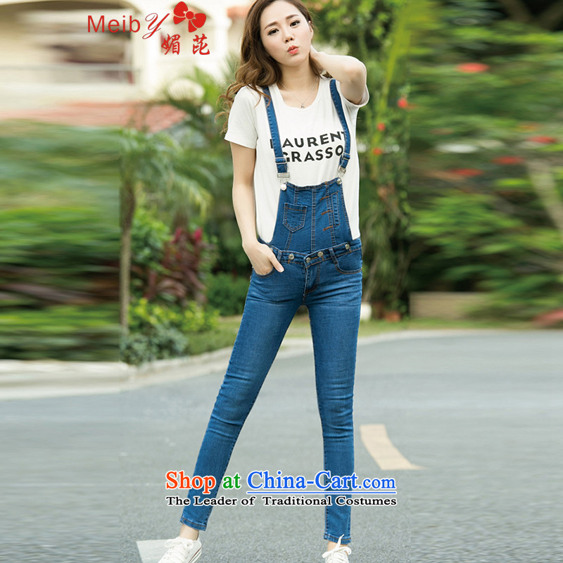Large meiby female wild Sleek and versatile large summer new women's video skinny foot strap jeans pantscolor photo 161629