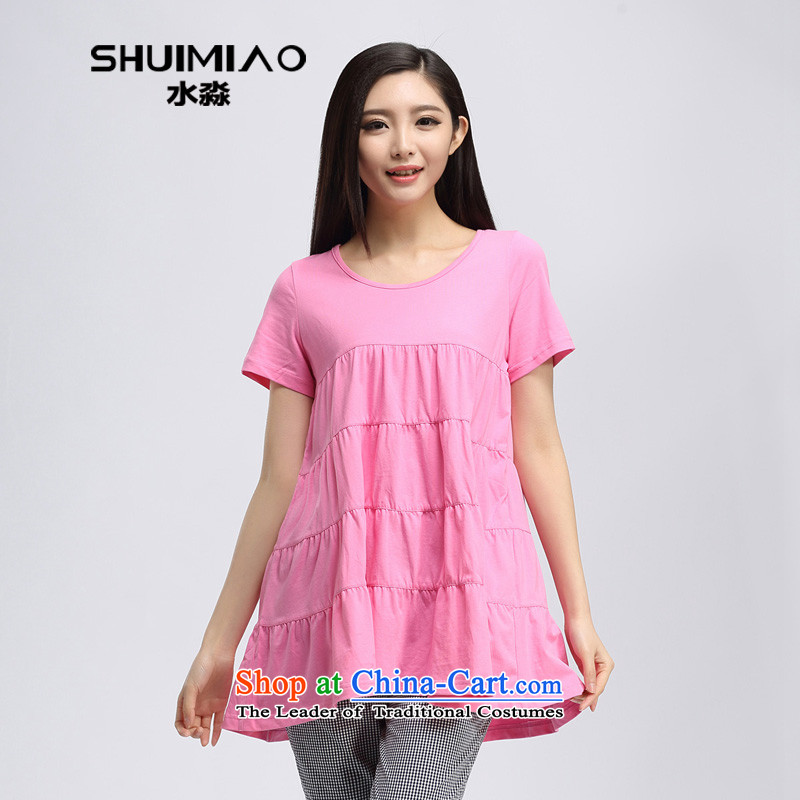 In the summer of 2015 by water new products in the Korean thick mm long billowy flounces large relaxd t-shirt S15XK4745 better toner?L