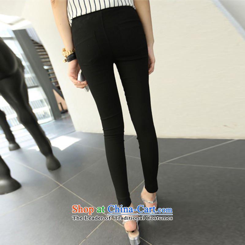 Flower to Isabelle 2015 Korean New MM thick large high elastic waist video skinny legs pencil Trousers tight trousers D1768 leisure 9 black XXL(135-155), flower to Isabelle (dufflsa) , , , shopping on the Internet