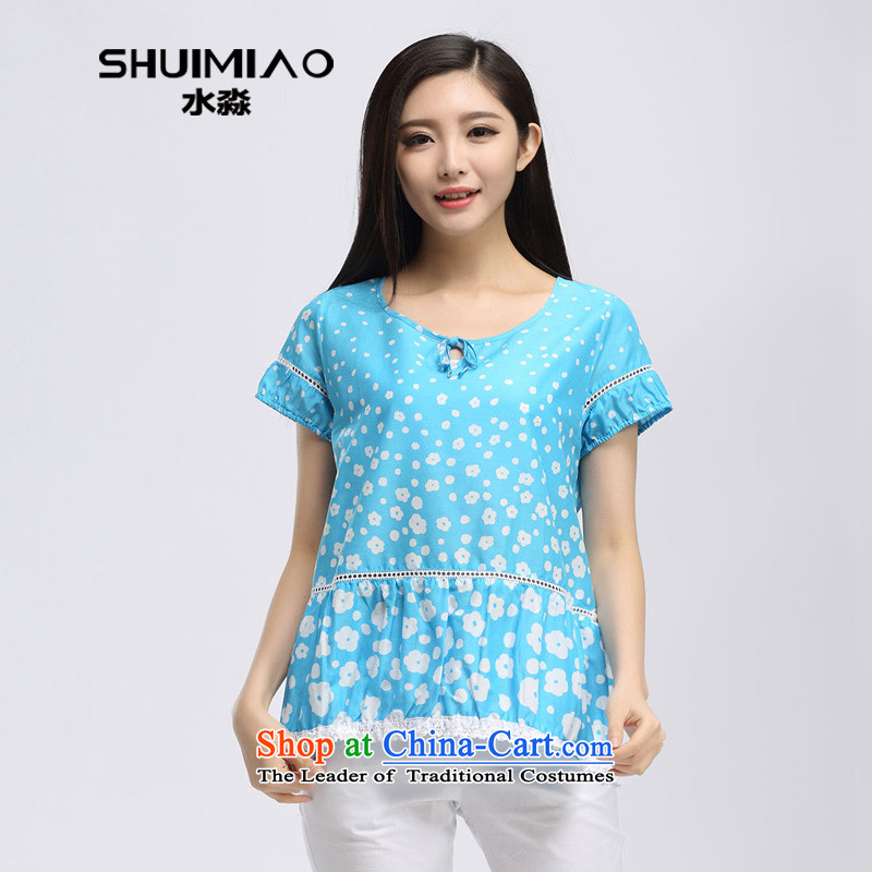 In the summer of 2015 by water new Korean thick mm loose to xl saika short-sleeved T-shirt S15XK5045 2,005?L