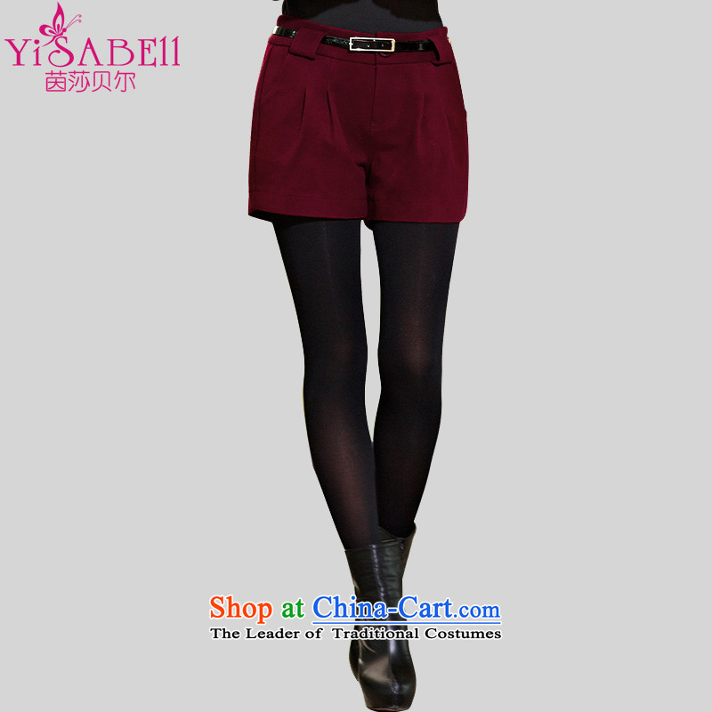 Athena Chu Load Isabel new four-sided pop-boots trousers gross? female king autumn and winter shorts code Women Korean female shorts a slimming 1139 wine red 2XL recommendations paras. 125-140 catty