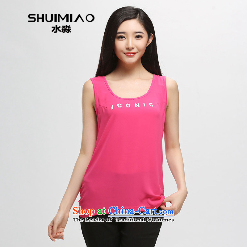 The representative of Korean women water inside the new summer 2015 mm thick stitching forming the small CAMI S15XA5136 better red燣