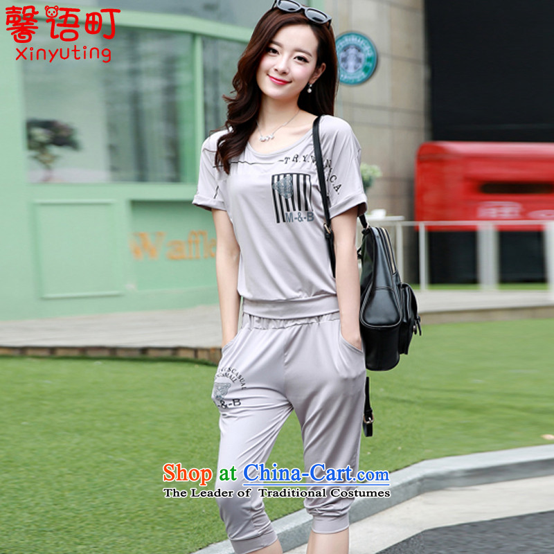 Xin Arabic-machi 2015 Summer new larger female thick mm stylish bat shirt leisure wears� 2023_爂ray� XXL