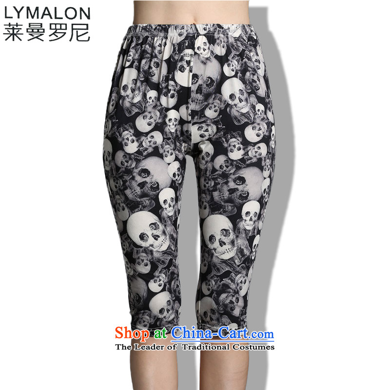 The lymalon2015 lehmann summer new high-end western thick mm larger women to increase Sau San Capri 1827 picture color燲XXL