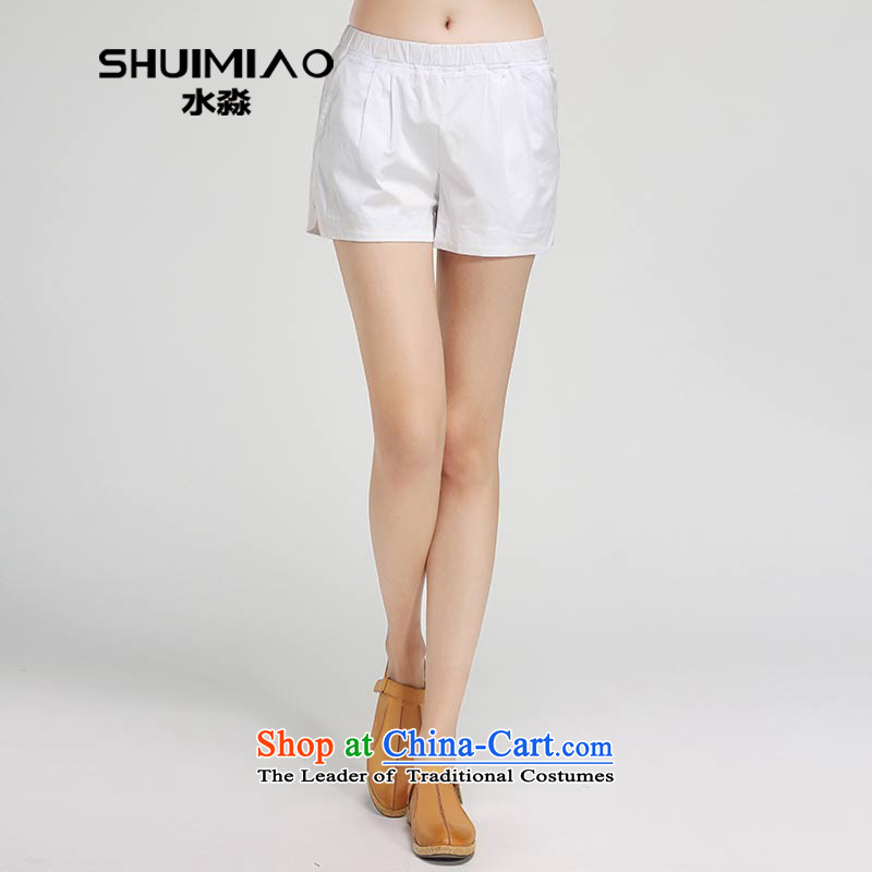 In the summer of 2015 by water new products 200 catties thick mm black white xl short pants hot girls S15XT5132 White�L