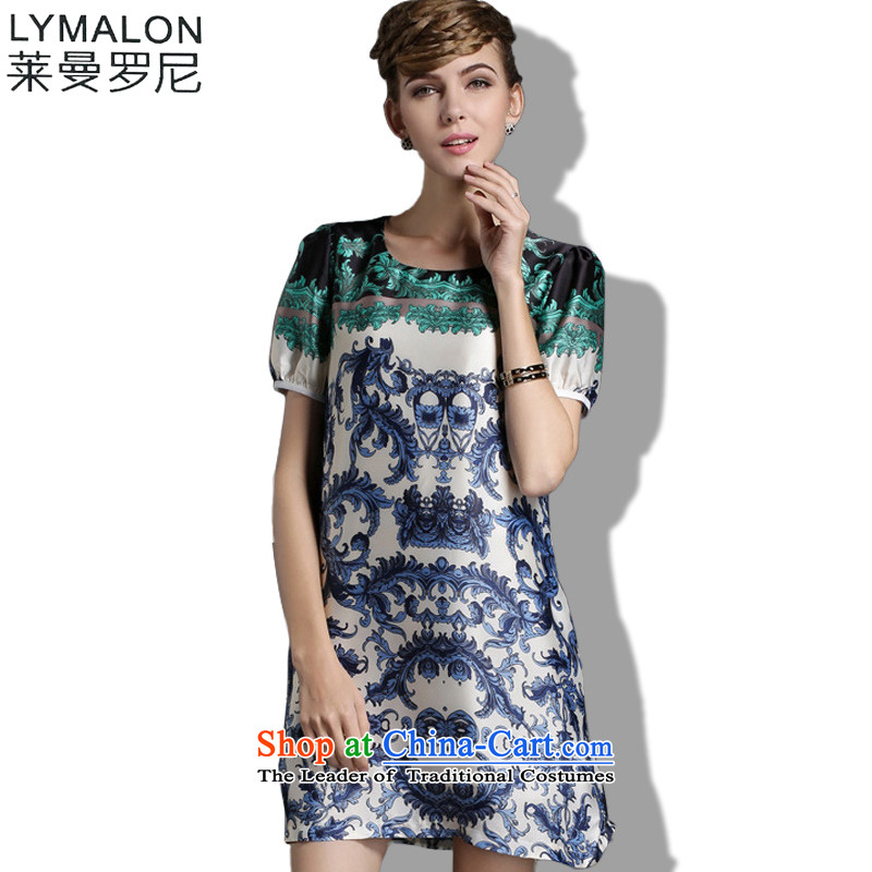 The lymalon Lehmann 2015 autumn and winter stylish Korean version of large numbers of ladies relaxd lace long-sleeved shirt, forming the basis to implement the 1843 Green4XL
