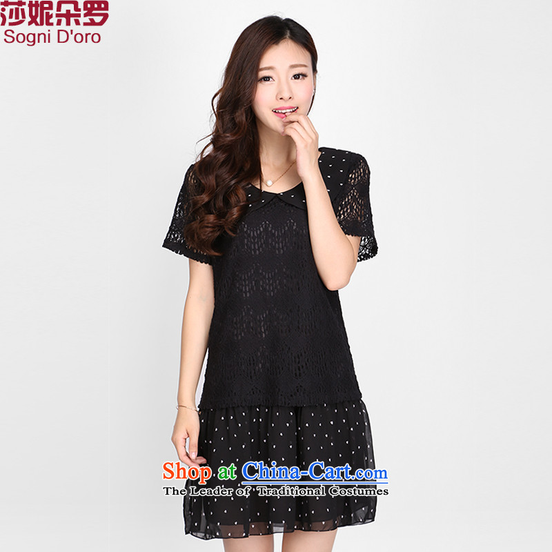 The latte macchiato, Shani to increase women's code thick mm Summer 2015 new products for dolls lace dresses�L 2108 Black