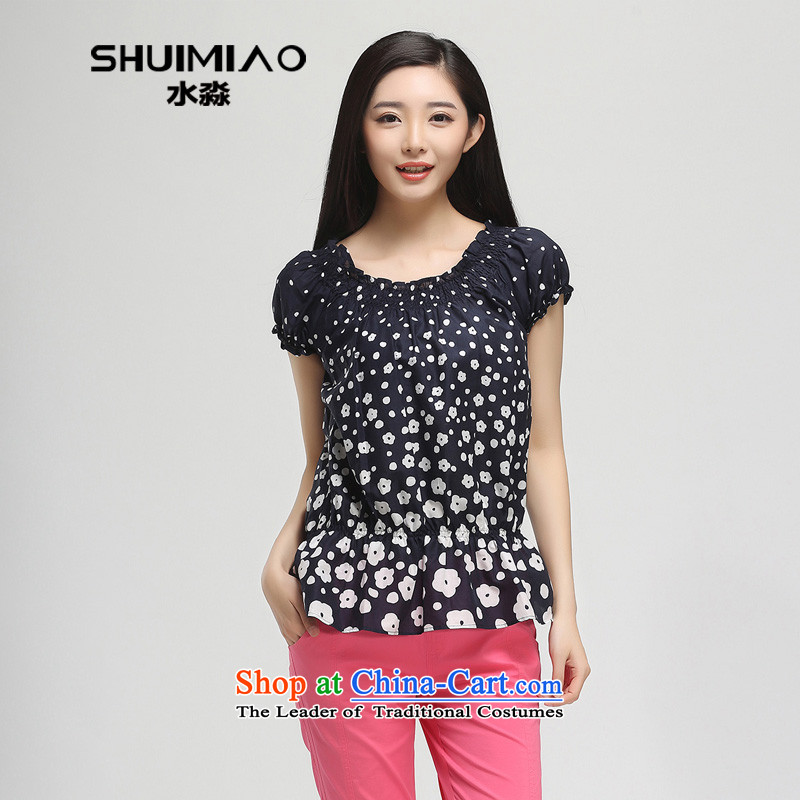 The representative of the water in the summer of 2015, replacing the new 200 catties thick large mm female pure cotton short-sleeved T-shirt saika 15XK4916 female possession,L