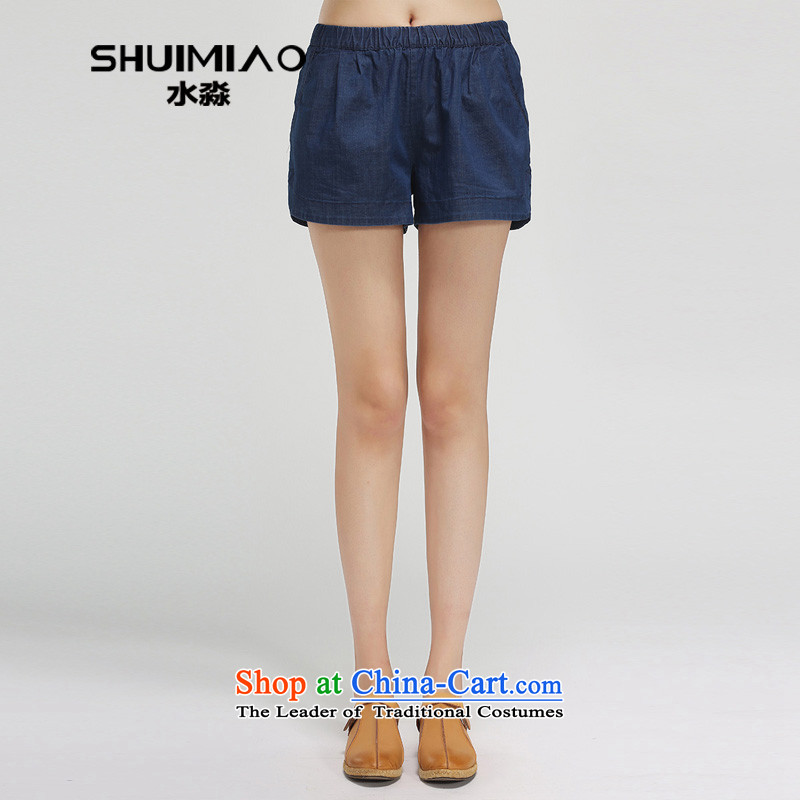 The representative of the water in the summer of 2015, the major new code women thick mm elasticated waist pants hot pants S15XT4837 female possession, L