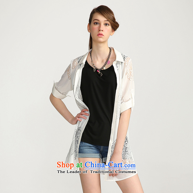 The former Yugoslavia Migdal Code 2015 summer load girls new thick mm air defense procurement service air-conditioning biological shirt�2047064 female爓hite�L