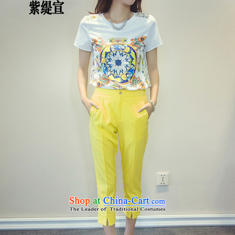 The first declared to economy XL Women's Summer Korean style two-piece short-sleeved T-shirt shirt + 9 Long short trousers2069_ 2XL around 922.747 Paras. 135-145