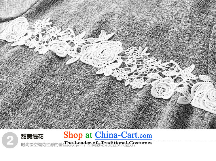 To increase the number missdonut female Korean mm200 thick catty summer new products thick sister short-sleeved lace stitched cotton linen dresses large gray code XL recommendations 135-150 catty picture, prices, brand platters! The elections are supplied in the national character of distribution, so action, buy now enjoy more preferential! As soon as possible.