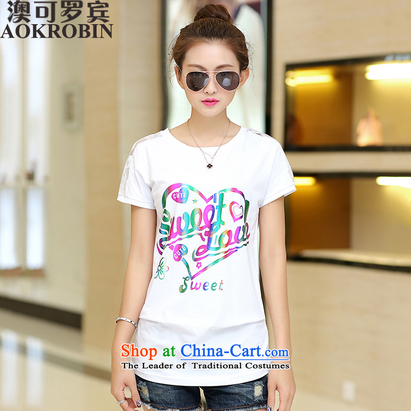 Australia New Robin 2015 gold-color graphics thin thick sister T-shirts and ventricular hypertrophy of fashionable individual stamp forming the white shirt2XL_ paras. 125-140_ the burden of recommendations