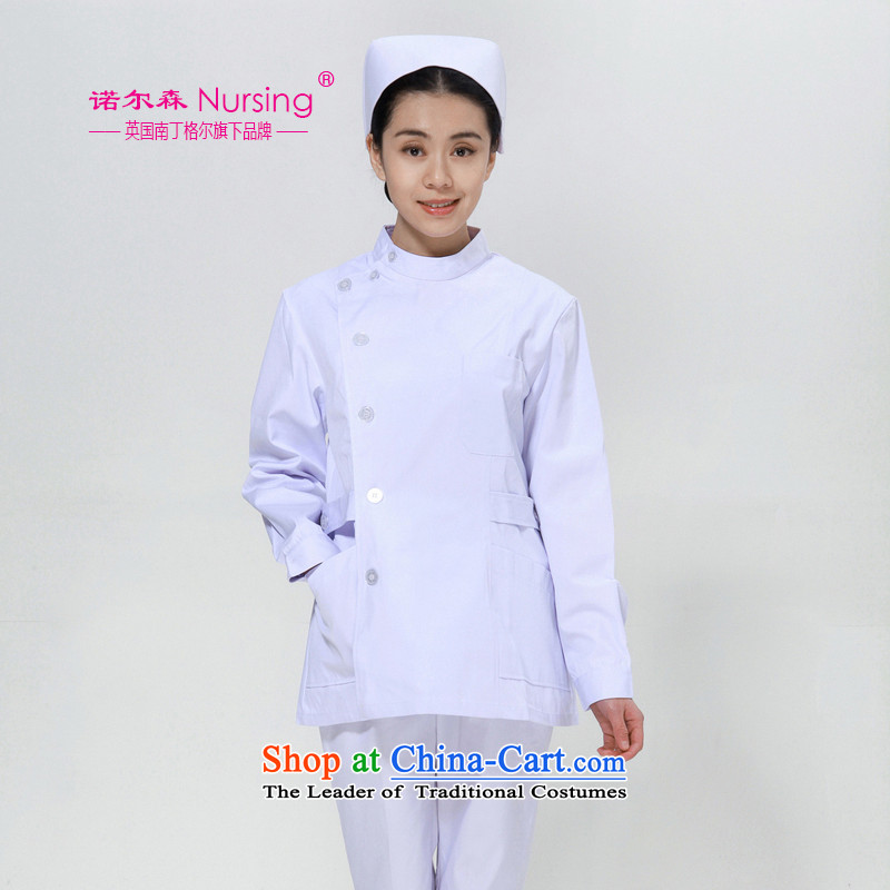 The nightingale flag, the sum nurse uniform Nl-06d long-sleeved Doctors serving white gowns workwear female winter white燬