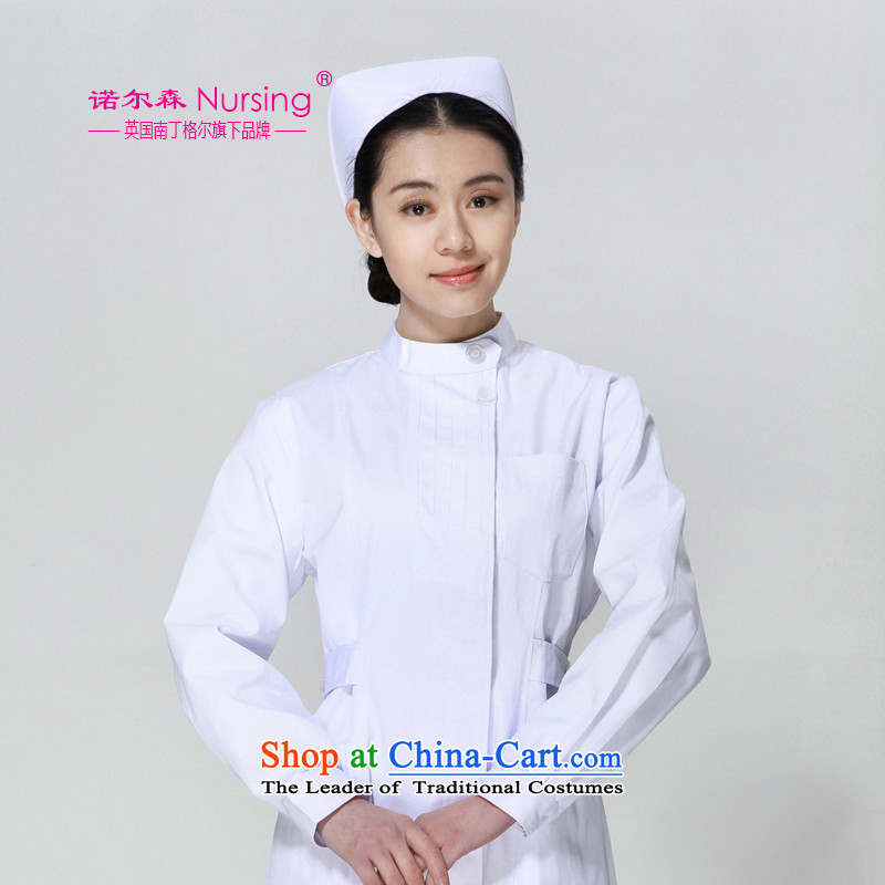 The nightingale flag, the sum nurse uniform NL-05 long-sleeved Doctors serving white gowns workwear female winter White燤