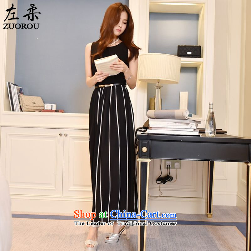 �  2015 Summer Sophie left Korea quality cool Sau San video thin large like Susy Nagle streaks vest long skirt summer dresses beach skirt black燤