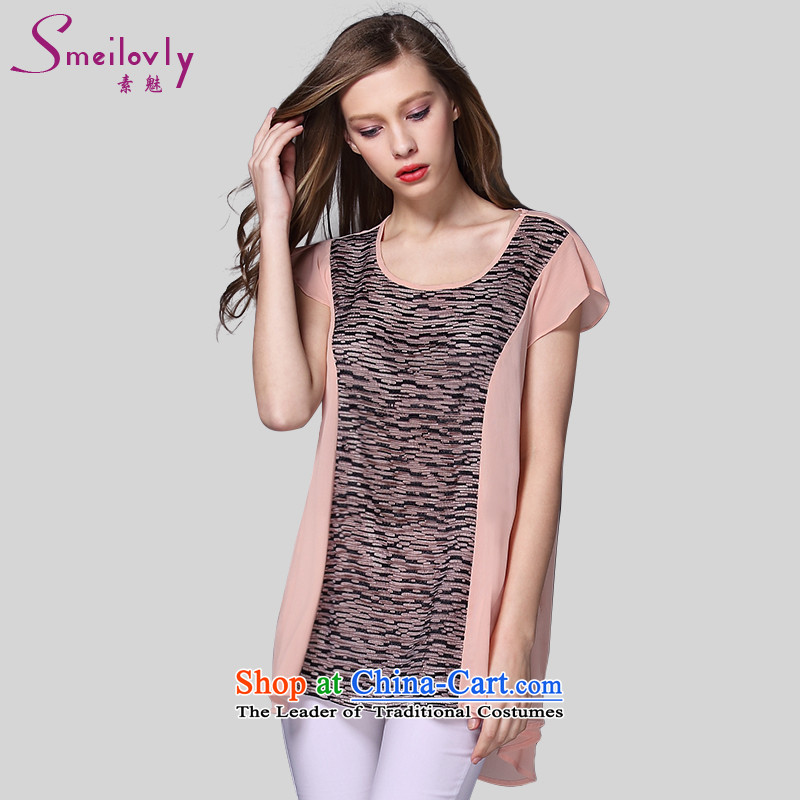 The Director of the new summer 2015 to increase the number of women with thick MM lace stitching T-shirt chiffon Netherlands�11爋range larger 3XL around 922.747 160
