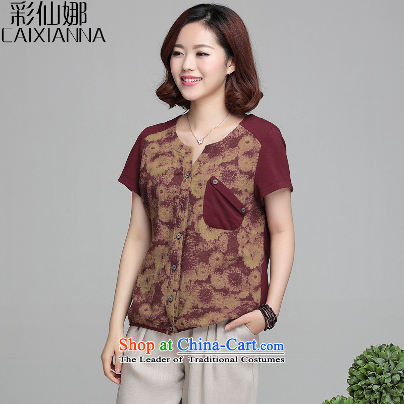 Also the2015 spring_summer sin new Korean version of large numbers of ladies minimalist forming the wild short-sleeved T-shirt female BOURDEAUXM