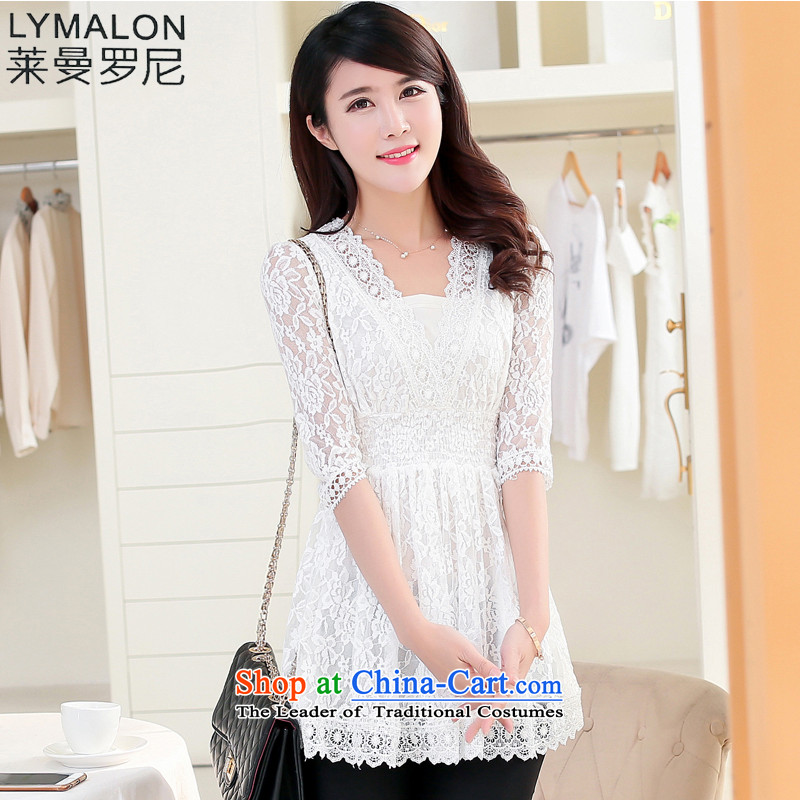 The lymalon Lehmann 2015 Summer King New product codes 200 female catty video thin to thick sister lace dresses 1,538 whiteL
