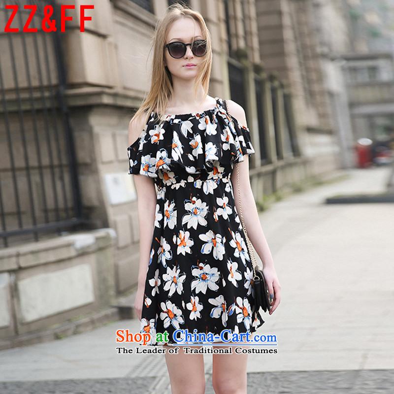 2015 new larger women's summer mm thick Korean Xlarge 200 catties bare shoulders stamp saikaXXXXXL( black skirt recommendations 180-200 catties)
