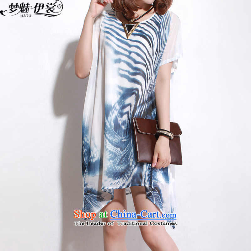 The staff of the Advisory Committee this summer to loose video thin xl female thick two kits in mm long chiffon short-sleeved shirt with blue skirt are code Yi
