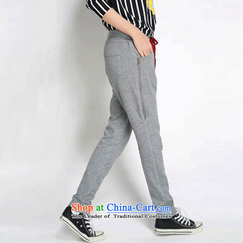 The officials of the fuseau larger ladies casual trousers thick mm to xl pants zipper side relaxd Harun light gray trousers without lint-free XL, Fuseau Mano turbid , , , shopping on the Internet