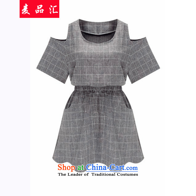 Mr Hui�15 summer products new western extra bare shoulders plaid dresses thick mm thin to Sau San video xl�8燾olor picture�L skirt
