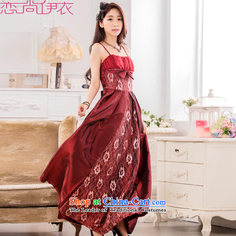 C.o.d. 2015 new fourth quarter dress chairman skirt xl stylish large dresses slips hosted a dress wine red�L燼pproximately 145-165 catty