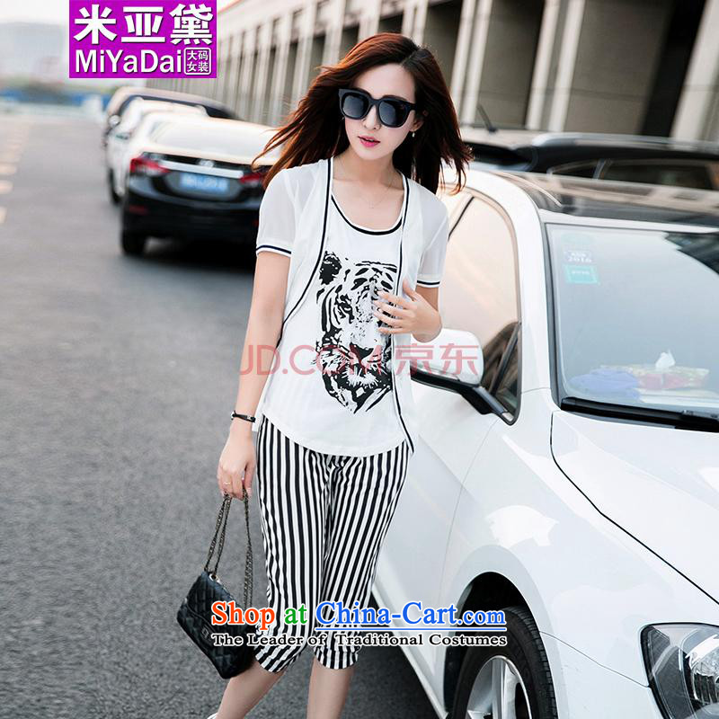 The Doi larger female kit fat mm Summer 2015 new Korean version thin chiffon leisure Large Kit 3 to 200聽L _recommendations 100-120 catty white_