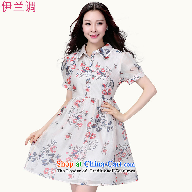 Gilland adjustable to xl dresses larger female 2015 Summer summer new chiffon video thin thick mm thick sister 2204 suit聽XL