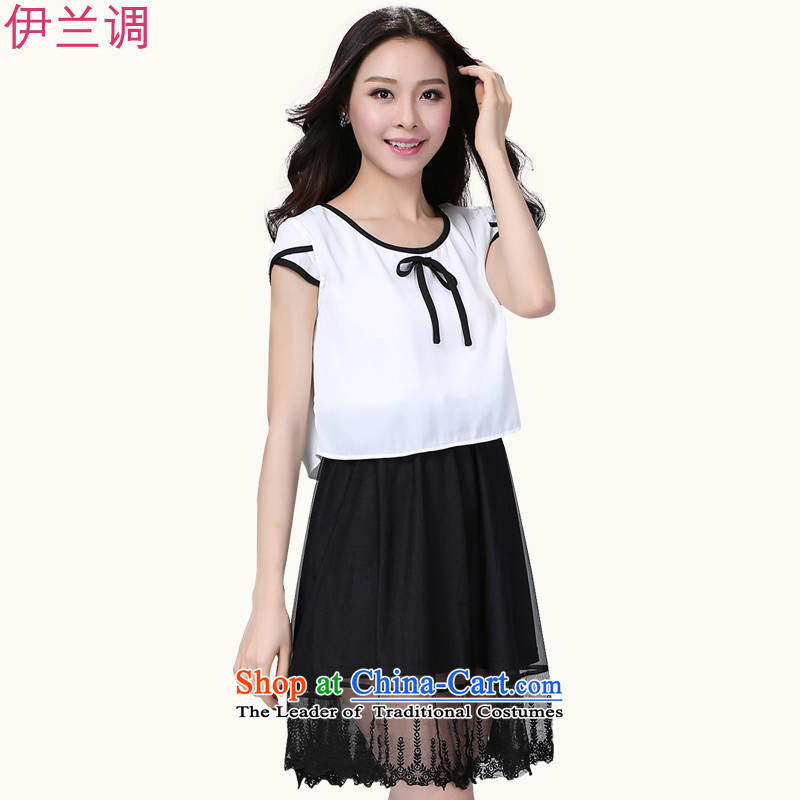Gilland adjustable 2015 Summer summer new to xl dresses chiffon thick mm thin thick sister large video code women 2194 White聽XXL