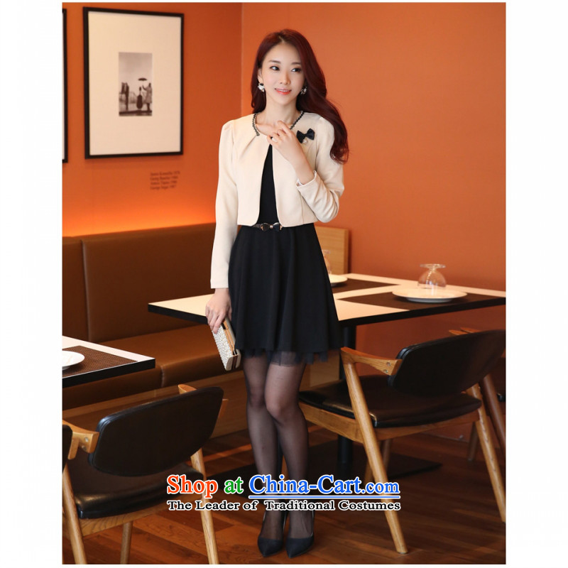 C.o.d. Package Mail 2015 Summer new stylish atmosphere thin Korean Sau San video festive small incense wind two kits vest skirt large wild dress clothes are packaged with code F