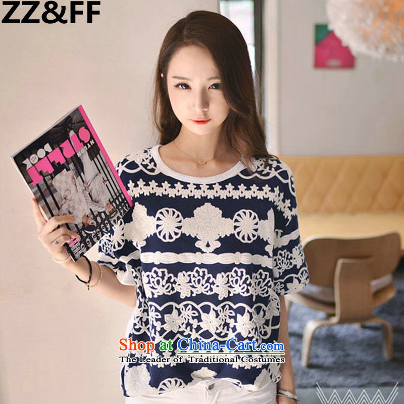The new summer 2015 Zz_ff Korean version of large code T-shirts 200 catties thick MM stitching medium to long term, forming the Netherlands shirt color picture燲L_ female recommendations 100-135 catties_