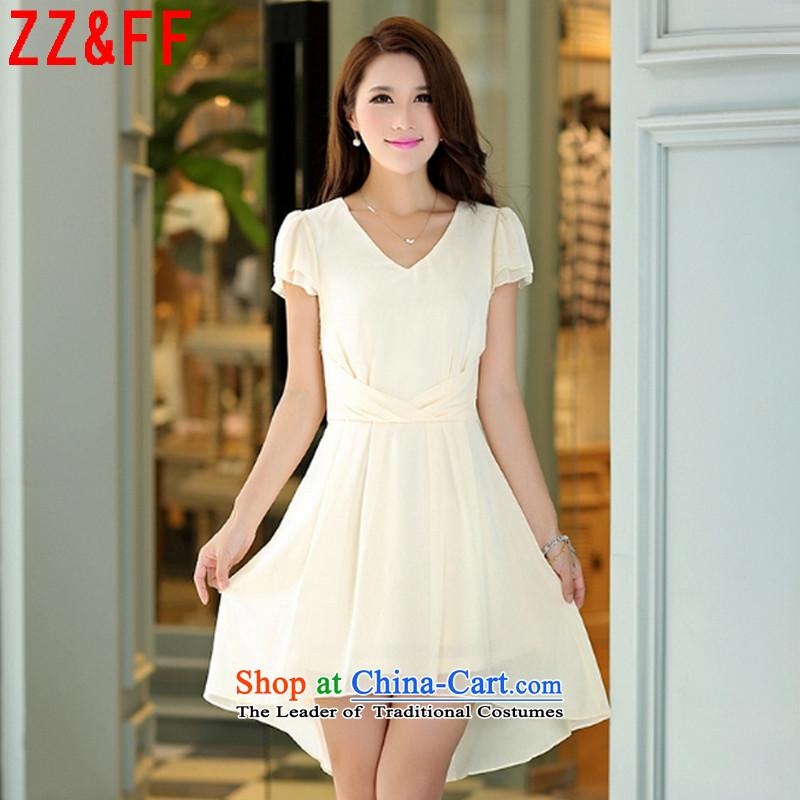 2015 Summer Zz_ff new larger female body decorated dresses female temperament long skirt female聽LYQ812聽聽XXXL m White