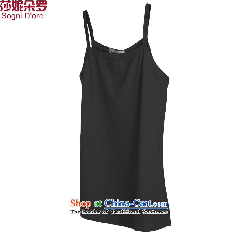 Luo Shani flower forming the women's code of the Netherlands thick sister summer thick, Hin thin singlet6XL 6188 Black