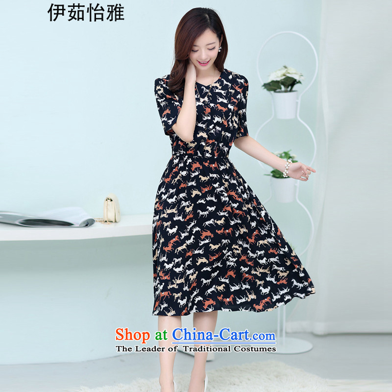 El-ju Yee Nga�15 Summer new expertise, Hin thin to xl women's dresses YJ9787 Ma pattern燲L