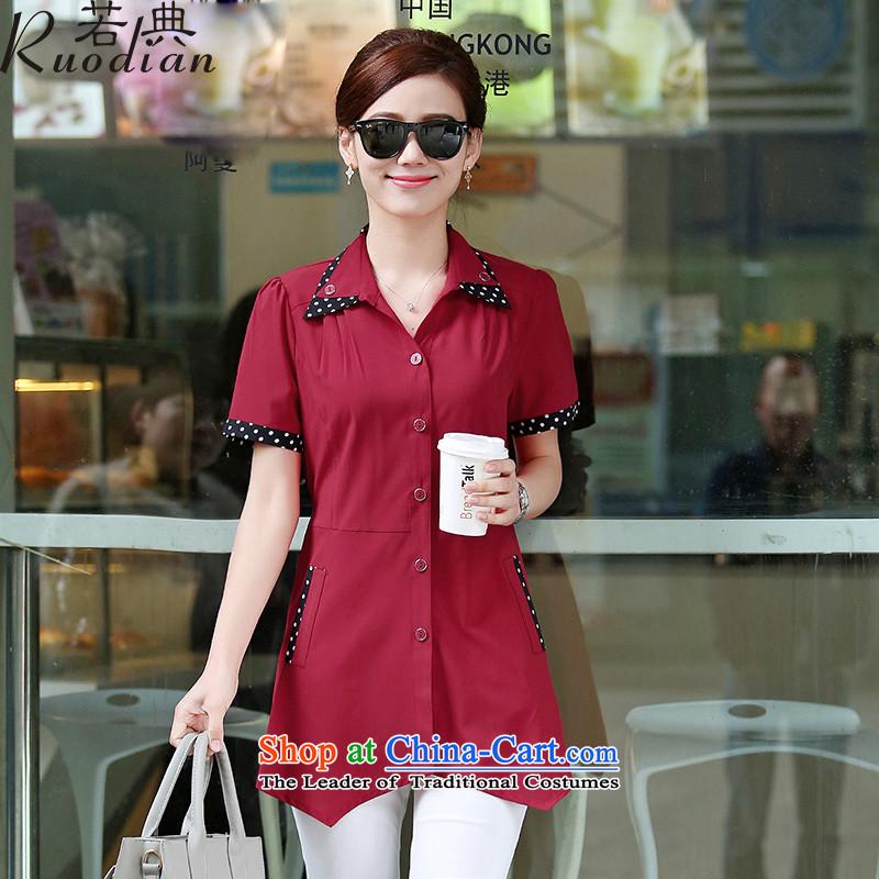 If code thick sister shirt xl women?2015 Summer new fat mm short-sleeved shirt chiffon chestnut horses?M