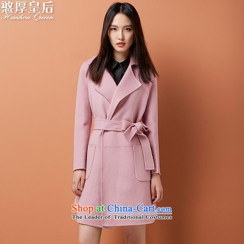 燭he new 2015 Queen simple two-sided woolen coat Sau San long gross Ms. han bum jacket? windbreaker pink燬