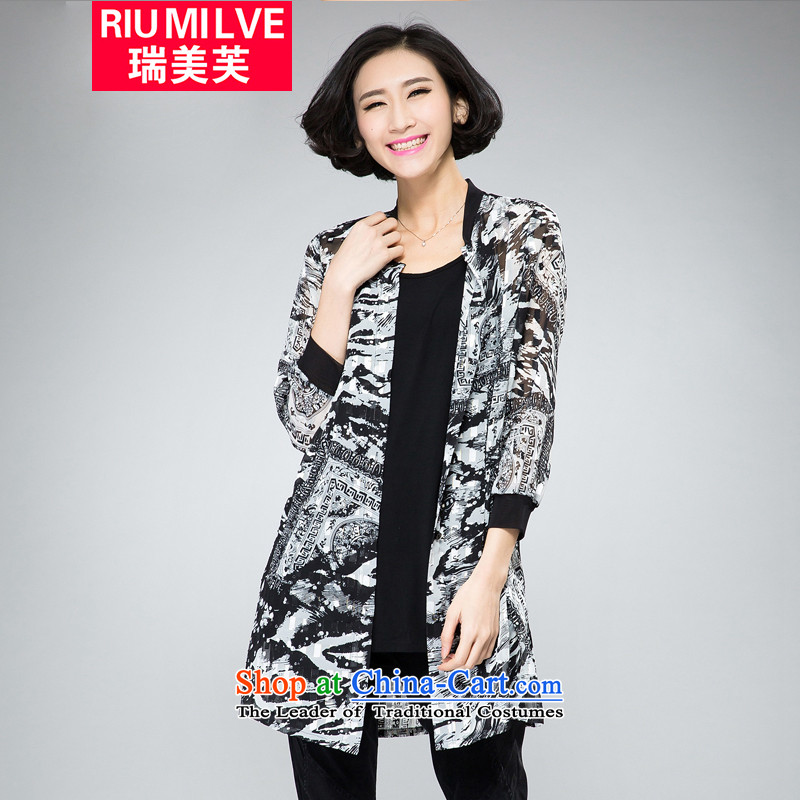 Rui Mei to�15 to increase the number of women with new summer thick, Hin thin thin, Casual Shirt, summer wind jacket燲XXXL 2020 Black