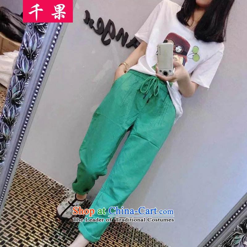 The results of the2015 Summer Code women thick MM to intensify the loose video thin round-neck collar short-sleeved T-shirt + 9 stamp shorts two3XL 6998 Kit