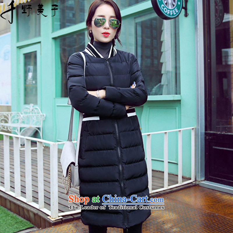 Chino Fumiko larger female jackets in long Foutune of Ms. ãþòâ video thin cotton coat Sau San pure black 5XL around 922.747 180-200