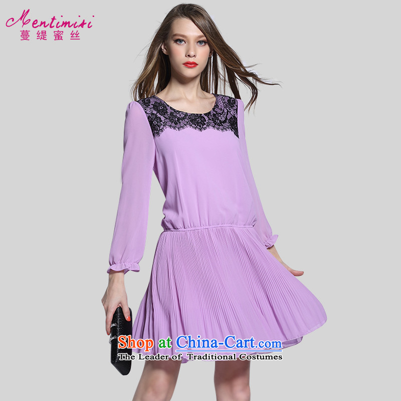 Golden Harvest large population honey economy women for summer to intensify the 2015 New thick sister Sau San video thin dresses2643rdViolet Grand code XXL around 922.747 145