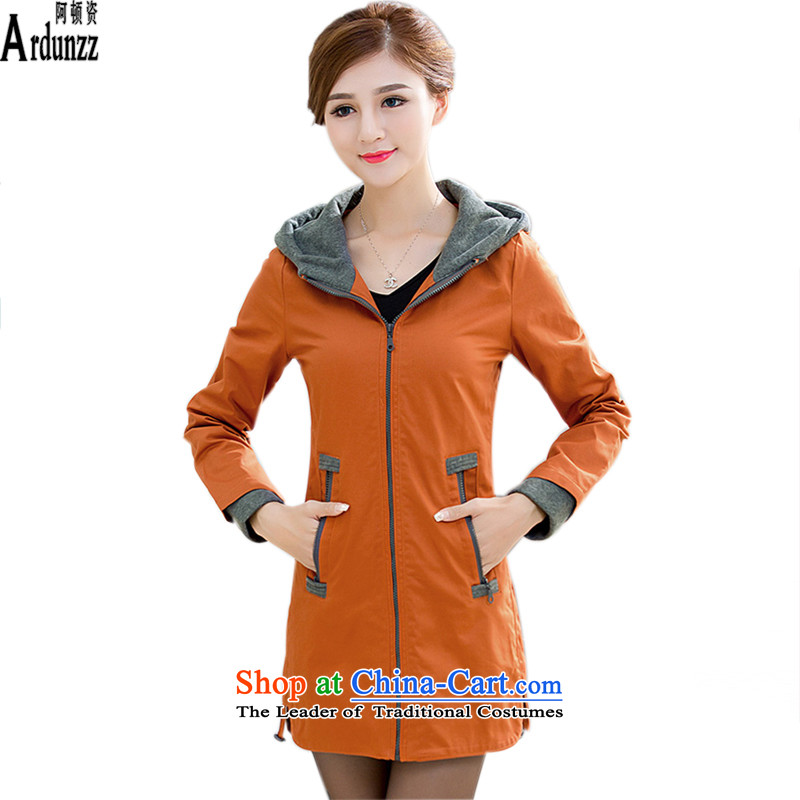 The Clinton for 2015 sweater female new larger female 200 catties thick mm windbreaker women long jacket, female, optional extra thick cotton coat fleet strength was 8,397 brick-red _XL_115-125_ coal_