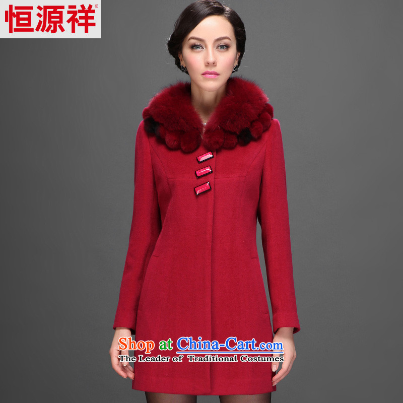 Hengyuan Cheung 2015 new winter. long_ Older women woolen coats gross for it? daughter Princess red jacket�0_92A_XL_ 2,555 5_