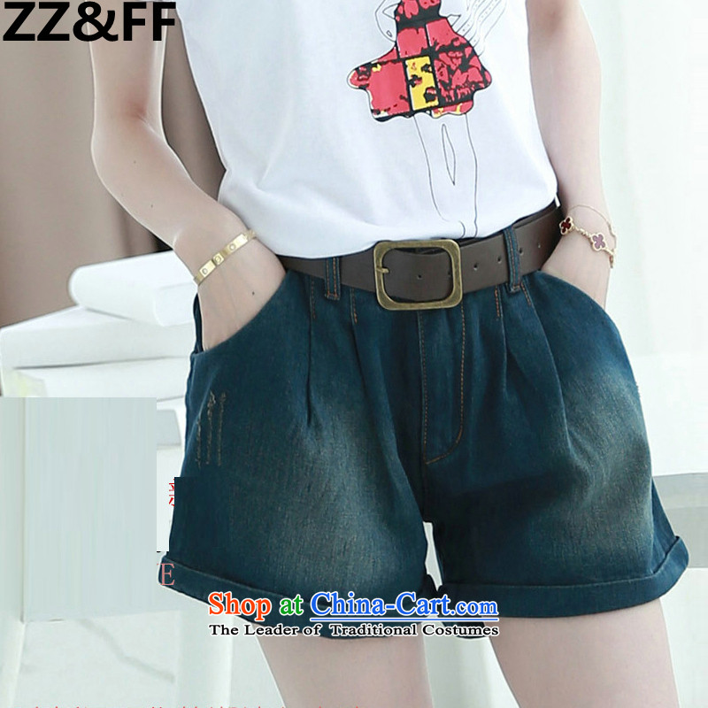 The new summer 2015 Zz&ff larger female loose 200 catties thick MM THIN jeans women video picture color XXXXL( summer recommendations 160-180 catties)
