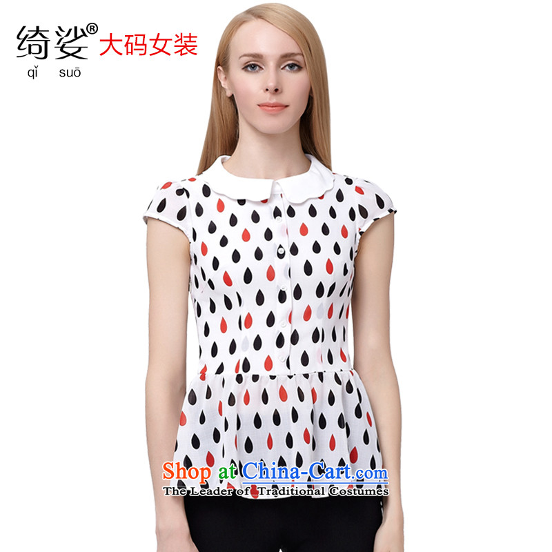 As provided for in the summer 2015 New Product Code women won 6-5 drops of stamp video edition thin chiffon shirt large short-sleeved T-shirt and 2,838 White4XL