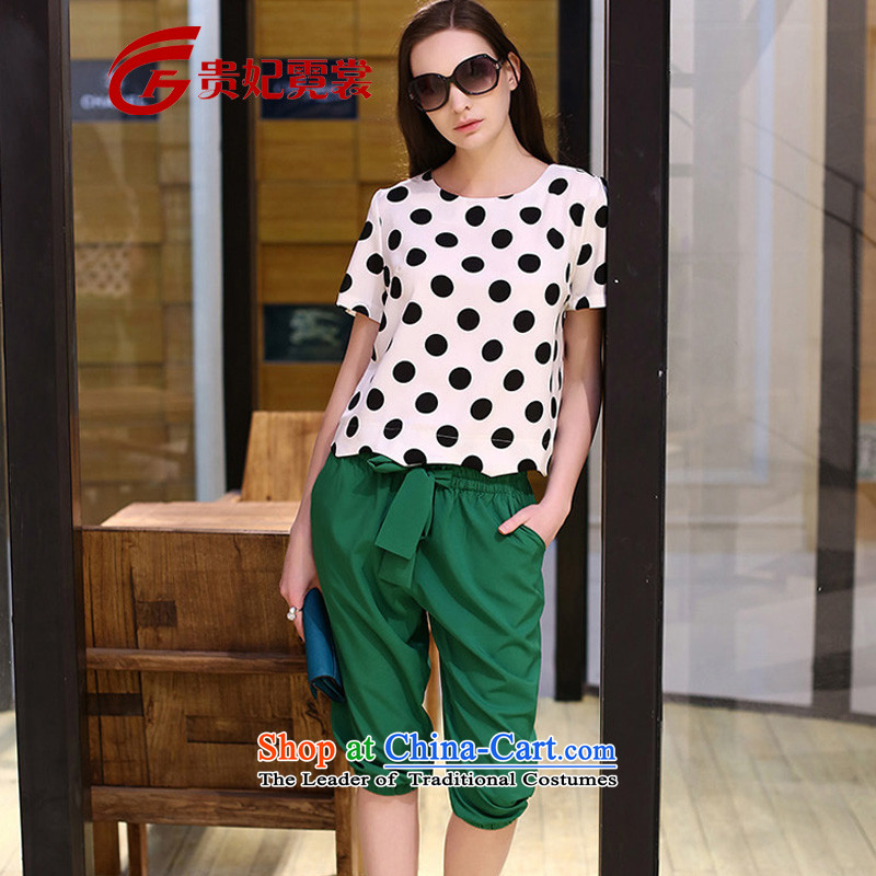 Tysan 2015 Europe Gwi-t extra Women's Summer new thick black and white wave hit point mm color T-shirt trunkhose to xl bundle 1528 Figure Color Code XL